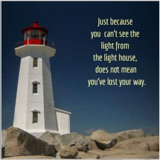 """8x8"""" Light house quote"""